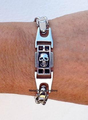 SKID - Skull small link bracelet