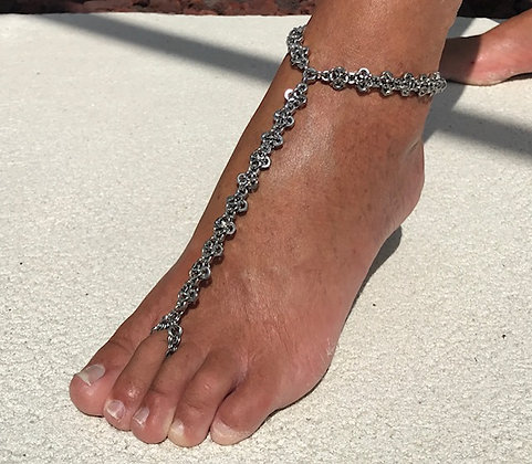 FA7 -Patterned Nut Foot Jewellery
