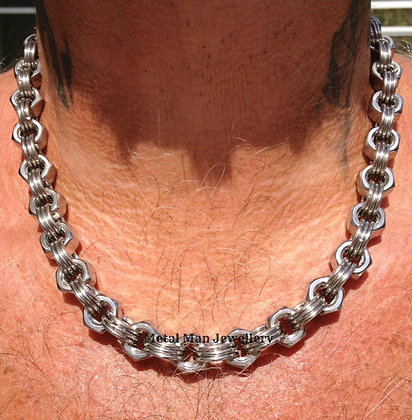 N2 - M8 Hex Nut Necklace