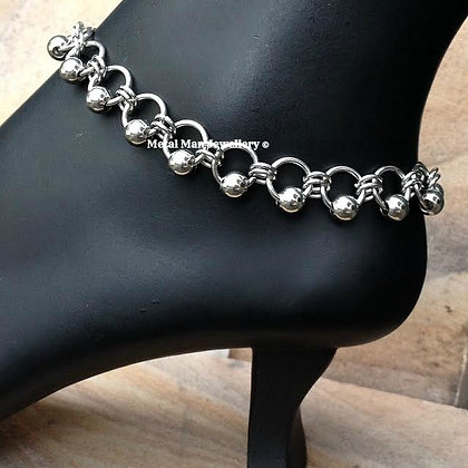 B2 - Ball and ring ankle chain