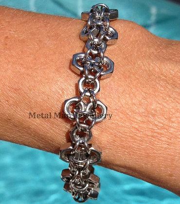 F2 - M4 Patterned Hex Nut Bracelet
