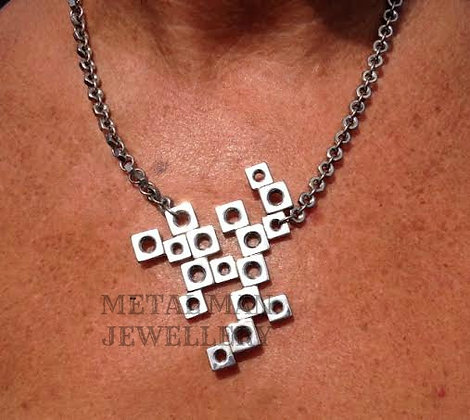 BN - Square nut pendant on a hex nut chain