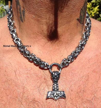 BYT - Thor's hammer Byzantine necklace