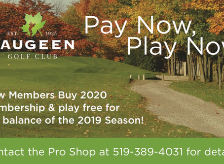 New Members - 2020 Pay Now, Play Now