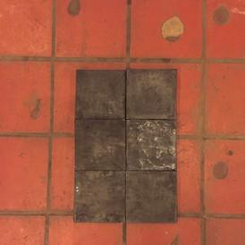 Wax square installation Sarah Depre