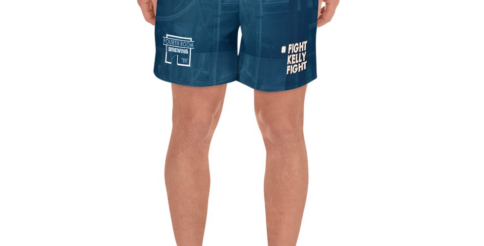 Fourth Room Brewing #fightkellyfight Men's Athletic Long Shorts