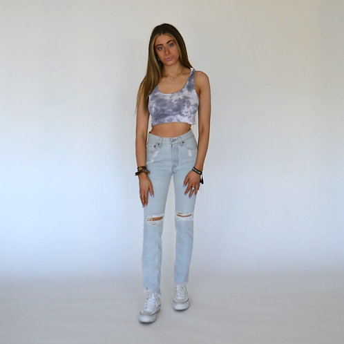 Charcoal Grey Cropped Tank
