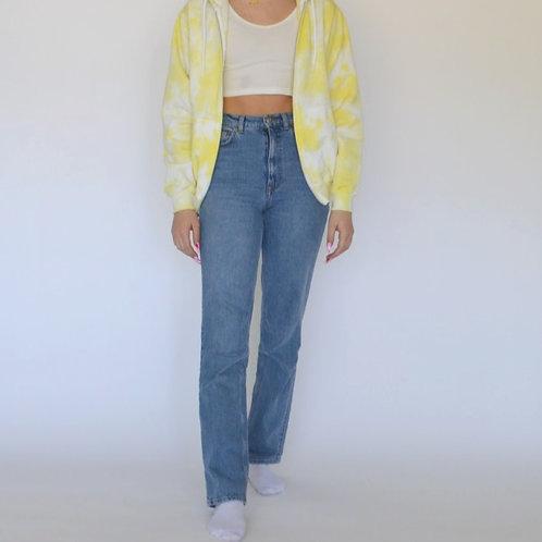 Sunshine Yellow Zip Up