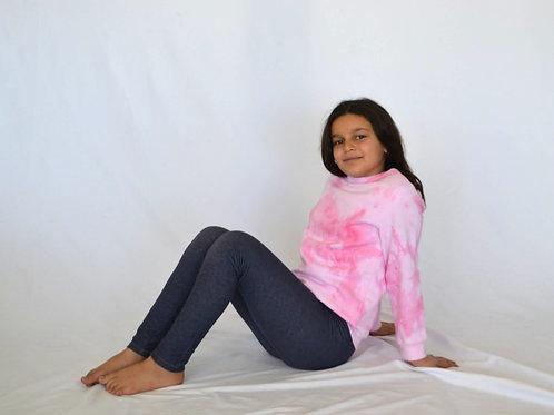 Big Kids Cotton Candy Pink Crewneck
