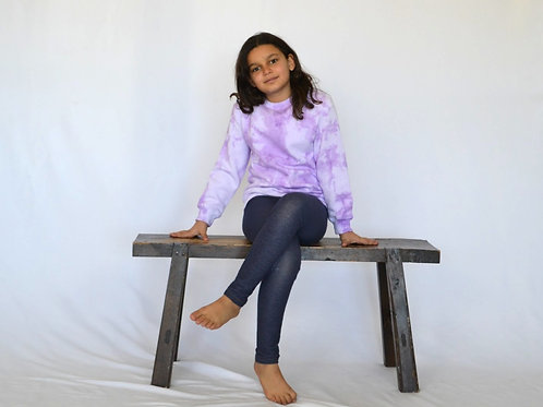 Big Kids Lavender Purple Crewneck