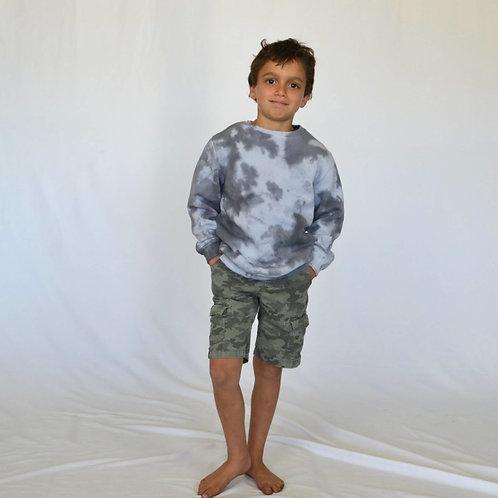 Big Kids Charcoal Grey Crewneck