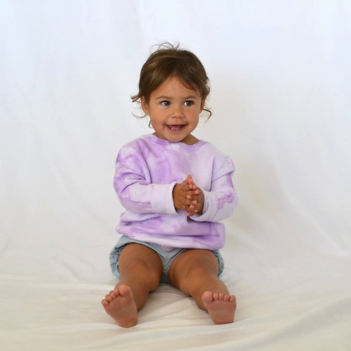 Little Kids Lavender Purple Crewneck