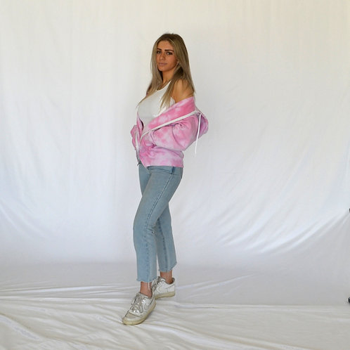 Cotton Candy Pink Zip Up