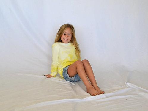 Little Kids Sunshine Yellow Crewneck