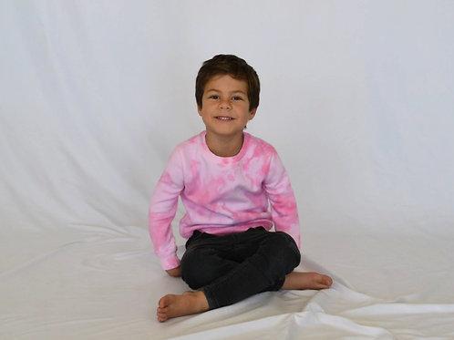Little Kids Cotton Candy Pink Crewn