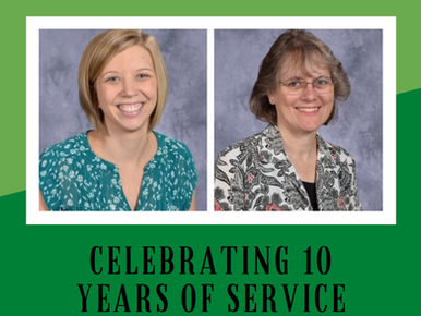 Two Teachers Mark 10 Years of Service at St. Patrick School