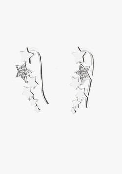 CZ Star Ear Hooks close up