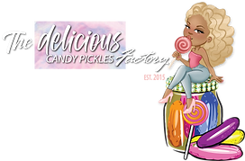 Delicious Candy Pickles Factory LOGO WHT