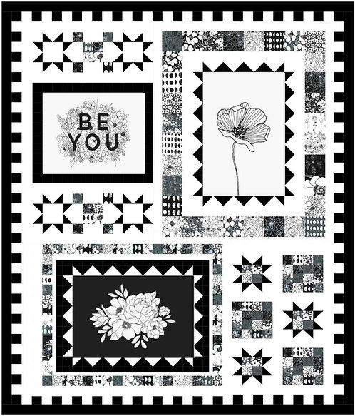 BE TRUE BE YOU Charm Panel Quilt KIT Alli K Designs