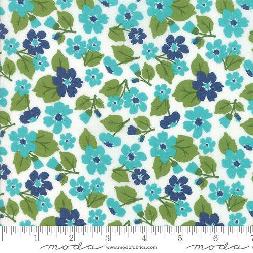 All Weather Friend 24061 15 Blue Floral Moda April Rosenthal