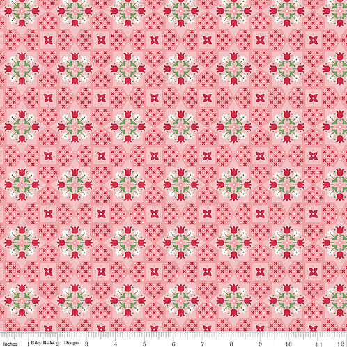 Flea Market C10212C Pink Lori Holt  Riley Blake