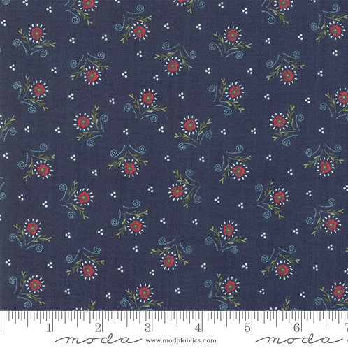 Walkabout 37564 18 Navy Blue Floral Moda Sherri & Chelsi
