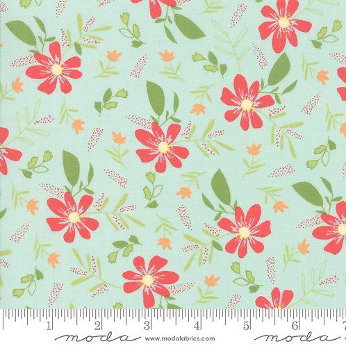 Summer Sweet 37580 17 Aqua Floral Moda Sherri & Chelsi