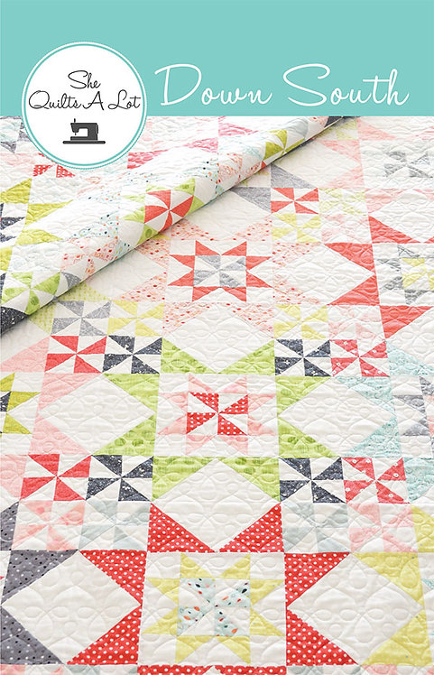 She Quilts A Lot DOWN SOUTH Fat Quarter Pattern