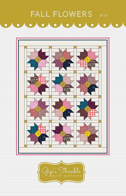 Gigi's Thimble FALL FLOWERS Fat Quarter Pattern