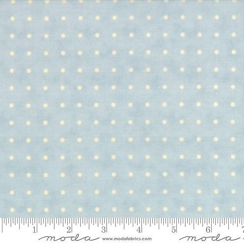 Snowfall 14832 24 Blue Ecru Dots Moda Minick & Simpson