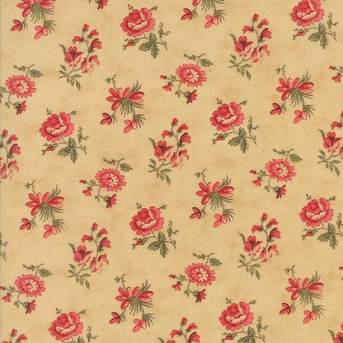 Courtyard 44124 11 Beige Rose Floral Moda 3 Sisters