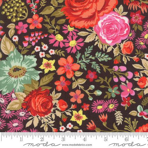 Meraki 30490 11 Brown Floral Moda Basic Grey