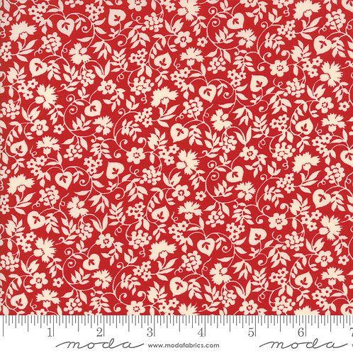 Merry Go Round 21723 11 Red Floral Moda American Jane