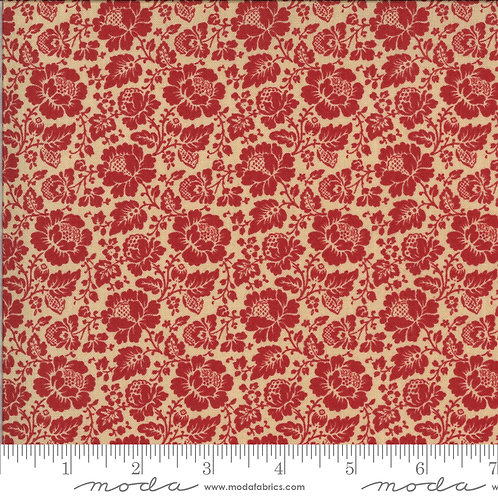 La Rose Rouge 13884 19 Red Floral Moda French General