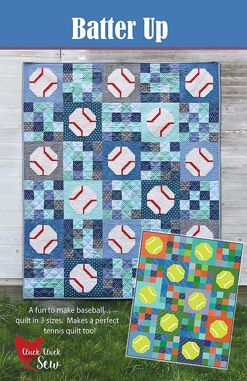 Cluck Cluck Sew BATTER UP Fat Quarter Pattern