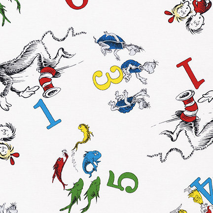 Dr Seuss 123 - 74438 1 White Cat In The Hat Kaufman