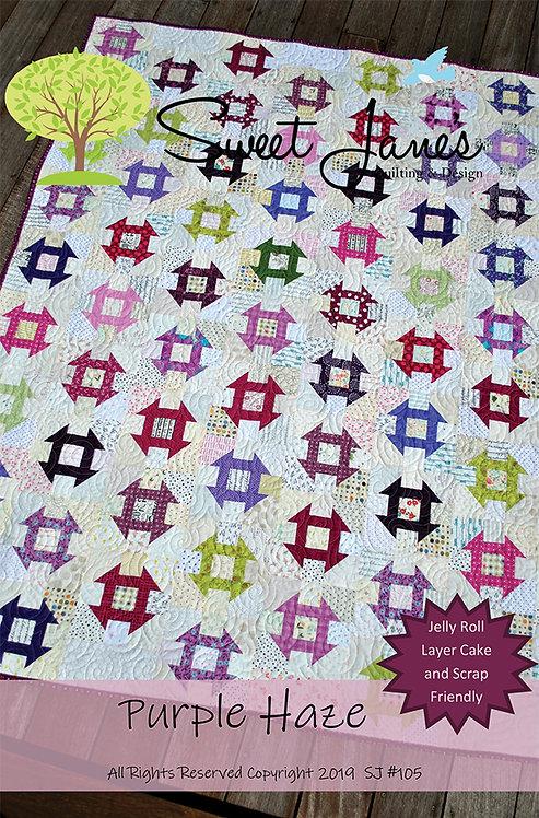 Sweet Jane's PURPLE HAZE Jelly Roll Pattern