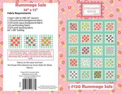 Coriander RUMMAGE SALE Layer Cake Pattern
