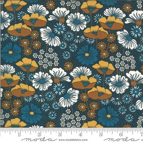 Cider 30640 20 Blue Floral Moda BASIC GREY