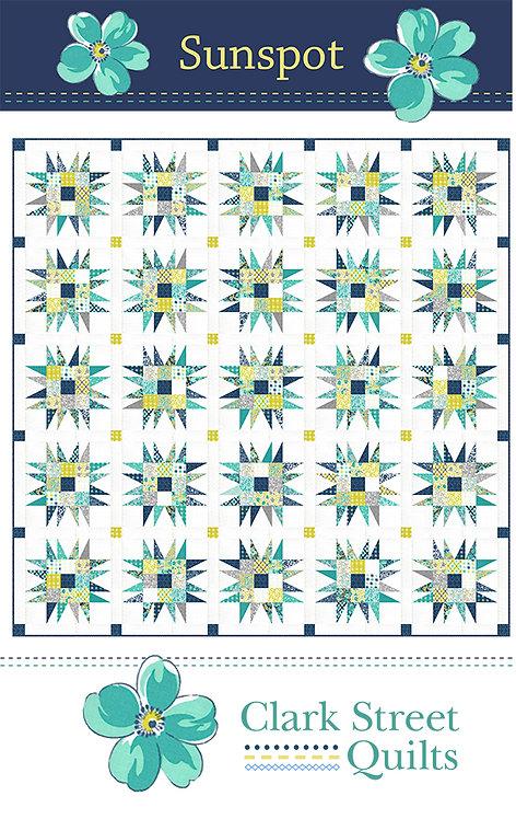 Clark Street Quilts SUNSPOT Jelly Roll Pattern
