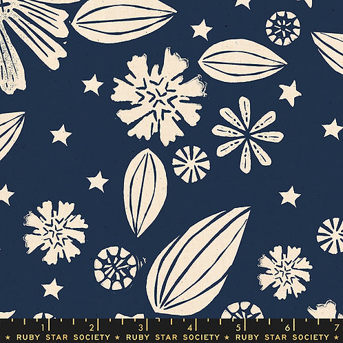 Golden Hour RS4016 12 Navy Floral Moda Ruby Star