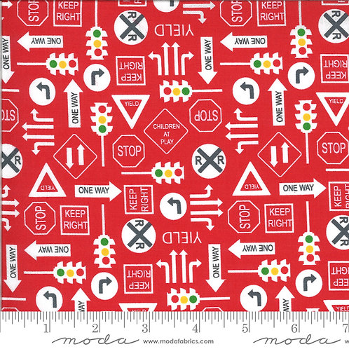 On the Go 20725 16 Red Traffic Signs Moda Stacy Iest Hsu
