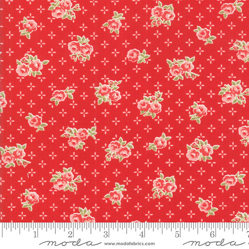 Early Bird 55191 11 Red Floral Moda Bonnie & Camille