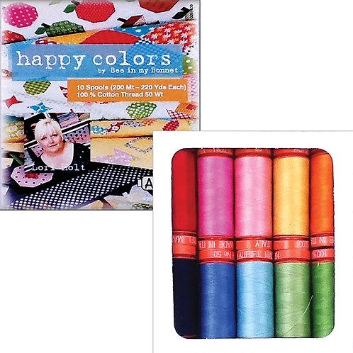 Aurifil Thread HAPPY COLORS Lori Holt 10 spools 50wt
