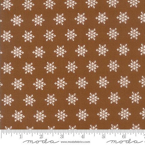 Sugar Plum 2917 19 Brown Snowflakes Moda Bunny Hill
