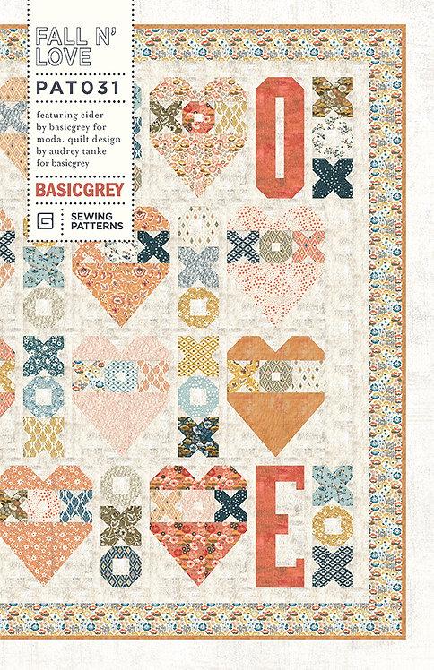 Basic Grey FALL N' LOVE Fat Quarter Pattern