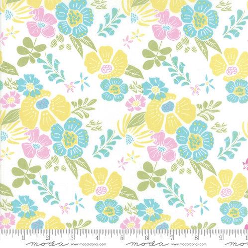 Bungalow 27290 32 White Multi Floral Moda Kate Spain