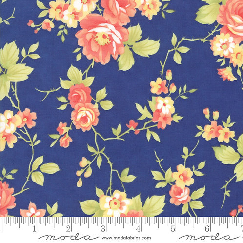 CATALINA 20370 12 Navy Moda FIG TREE Floral