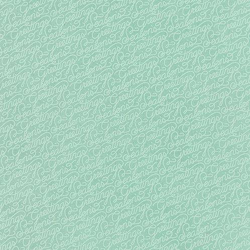 25th & Pine 30368 16 Mint Script Tonal Moda Basic Grey