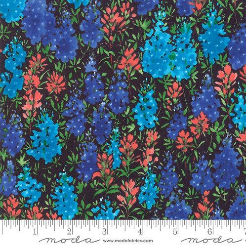 Fields of Blue 33451 17 Black Bluebonnets Moda